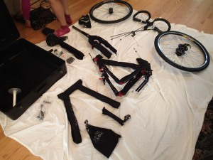 Unpacked bike components