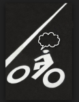 bike icon in bike lane with thought bubble
