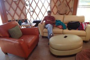 At the yurt