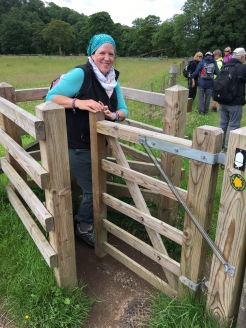 Archaeologist & Stanford classmate negotiates a stile